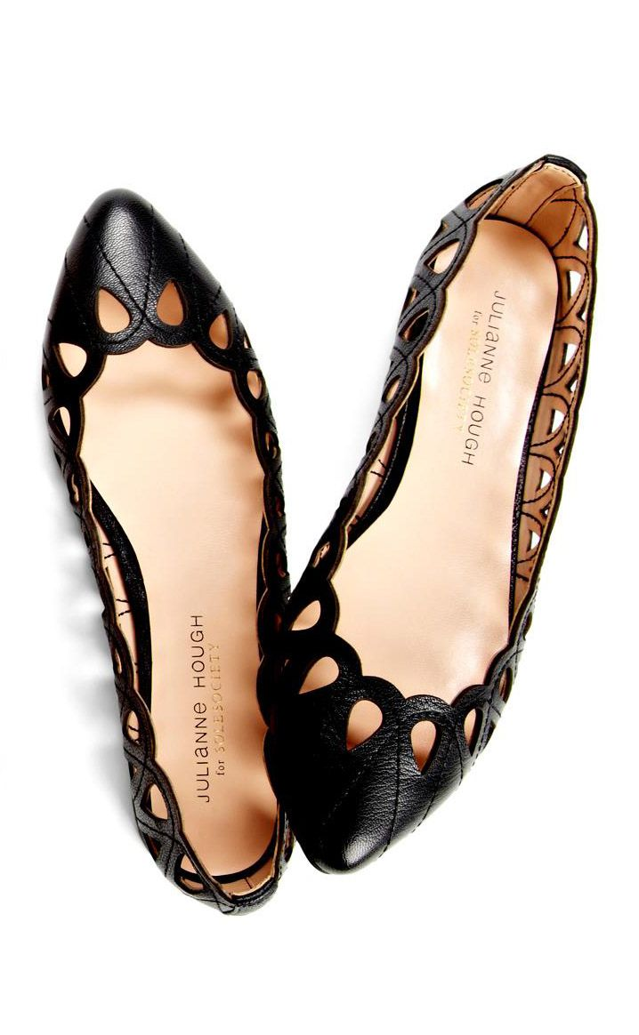 Sole Society, Julianne Hough for Sole Society 'Karlene' Flat ($49.95, Nordstrom). So comfy!!!