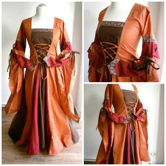 Commande à façon médiévale robe Renaissance par CadwaladrCostumes