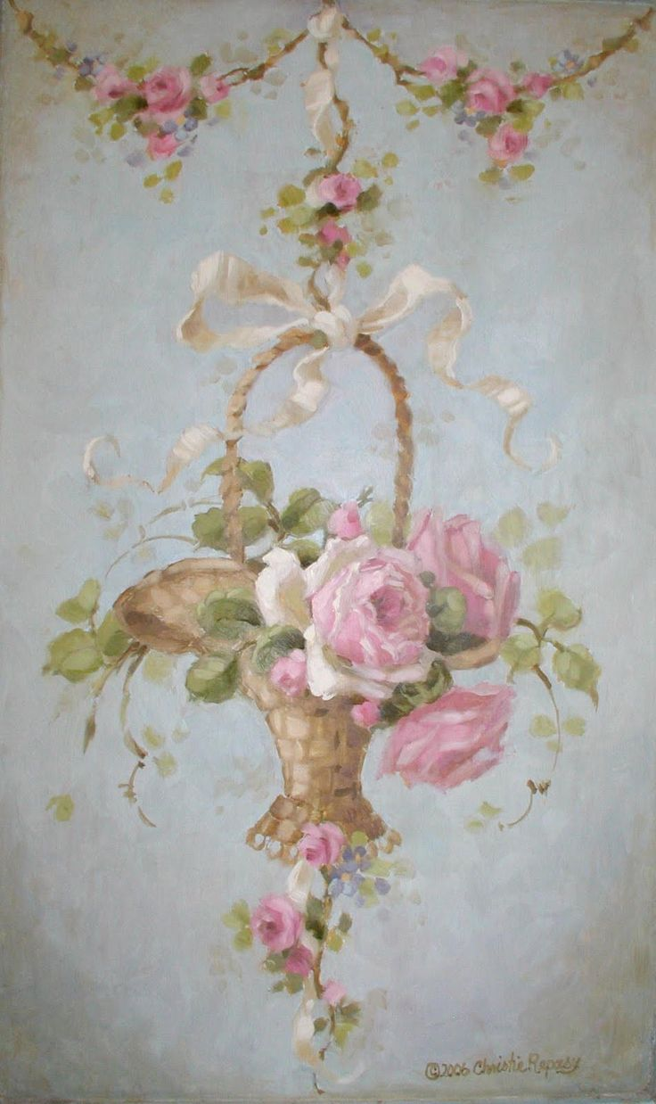 Christie's french basket painting