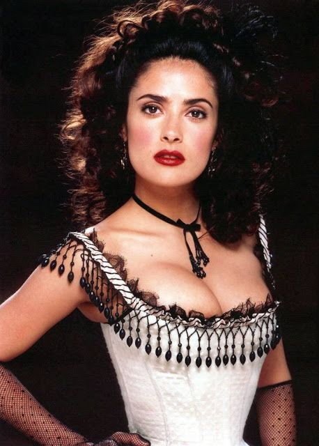 in this post, we see Salma Hayek. She is dressed for the Wild Wild West movie.