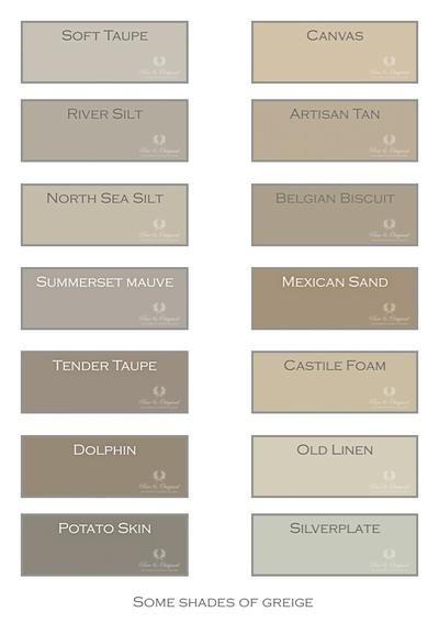 Greige, De kleur grijs met een vleugje bruin en beige, Het maakt de kleur warmer, dieper en perfect te combineren met andere kleuren als wit of juist donkere tinten.