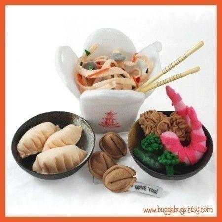 Chinese Take Out  PDF Felt Food Pattern Chow Mein von BuggaBugs
