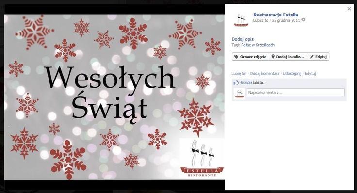 Życzenia świąteczne dla fanów naszego klienta, które przygotowaliśmy.