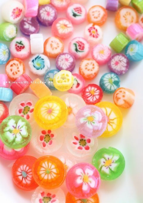 Colorful candies from Kyoto, Japan