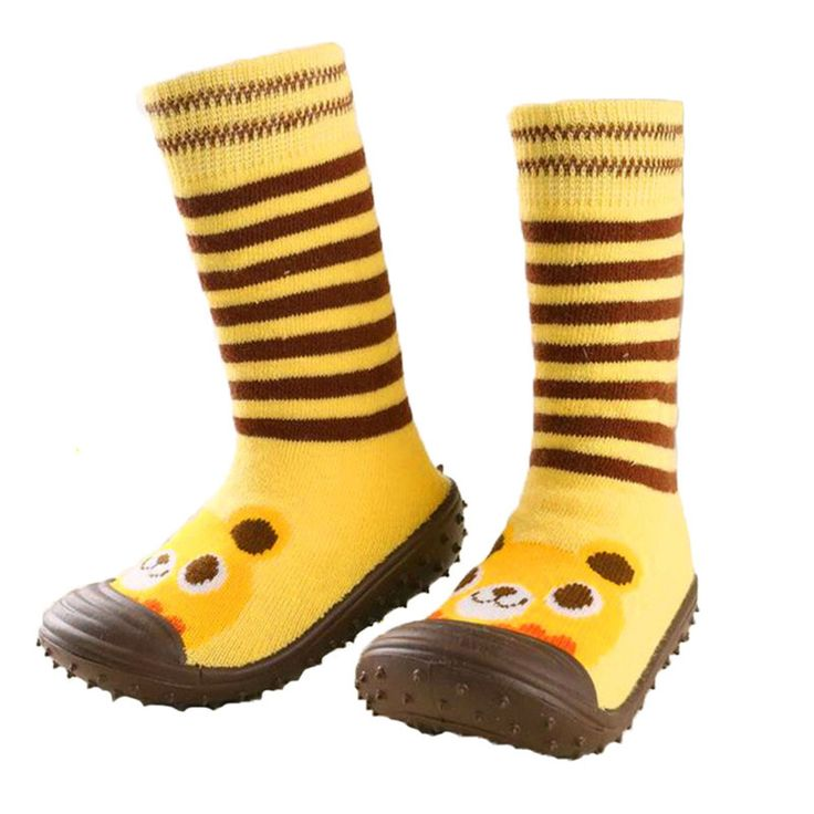 Niño Zapatos de Interior Del Piso SocksLearning Para Caminar Calcetines de Bebé de Algodón Recién Nacido Del Bebé Antideslizante Con Suela De Goma Calcetines Infantiles Ws9251