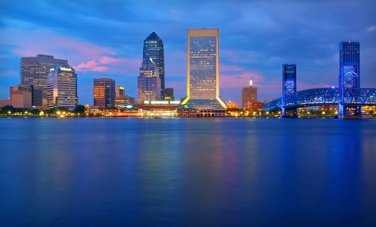 Wyndham Jacksonville Riverwalk in Jacksonville, FL. - LOVE the view of the river and everything all lit up. It really does look like the picture. New city new little adventure.