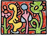 Flowers #4 by Keith Haring