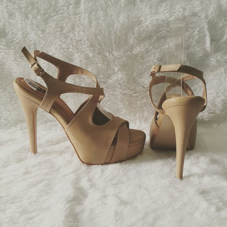 Strappy heels nude