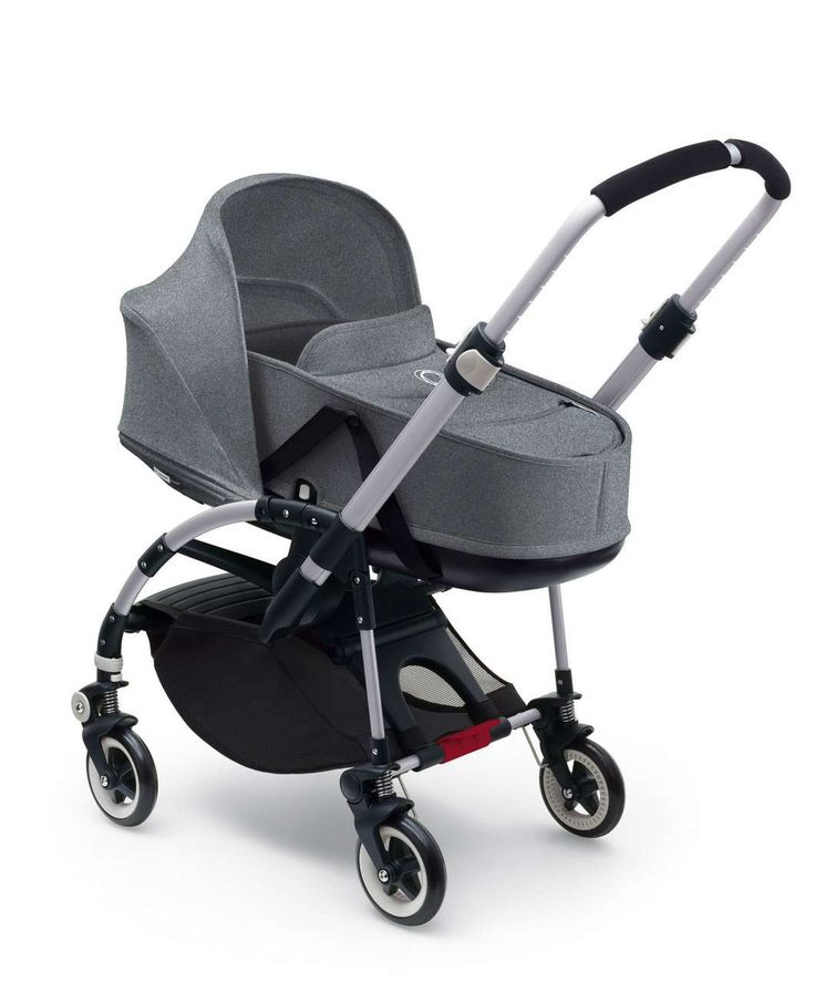 Bugaboo Bee³ Bassinette & Tailored Fabric Set - Black/Grey Melange - Bugaboo Bee3 - Mamas & Papas