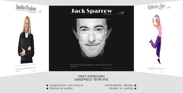 First Impression - Wordpress Template - Responsive - Personal Blog / Magazine