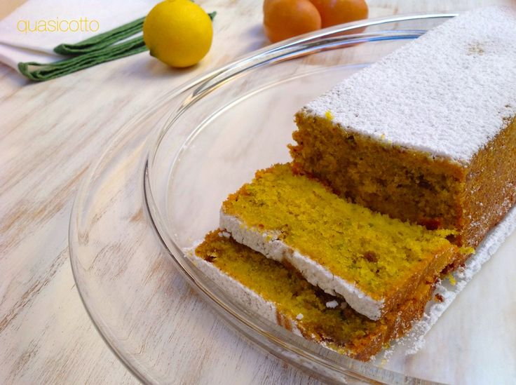 Plum cake ai pistacchi e limone
