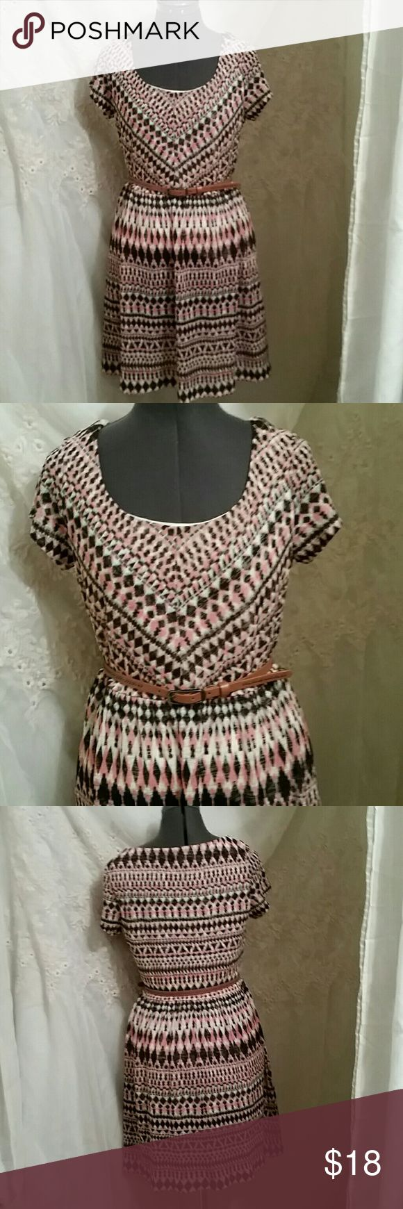 FLASH SALE SUPER CUTE TRIBAL PRINT DRESS This adorable dress is in EUC lightly wore once. Fully lined. Great look for the spring and summer. Dresses
