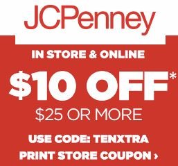 JCPenney: $10 Off $25 In-Store Coupon – Includes Sale & Clearance Items (+ Online Promo Codes) – Hip2Save
