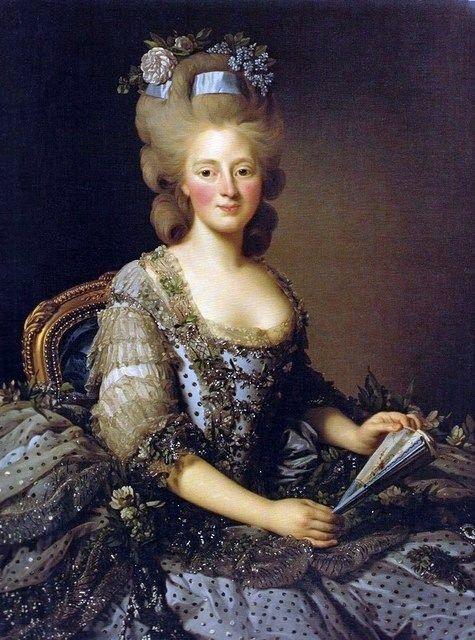 Marie-Amélie, date inconnue, mais je dirais vers 1780 vu la coiffure.