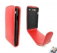 Samsung Galaxy Advance i9070 Leren Flip Hoesje Business-Class Rood | MobielKoopjes