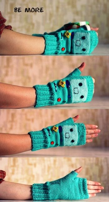 adventure time bmo gloves                                                                                                                                                                                 Más