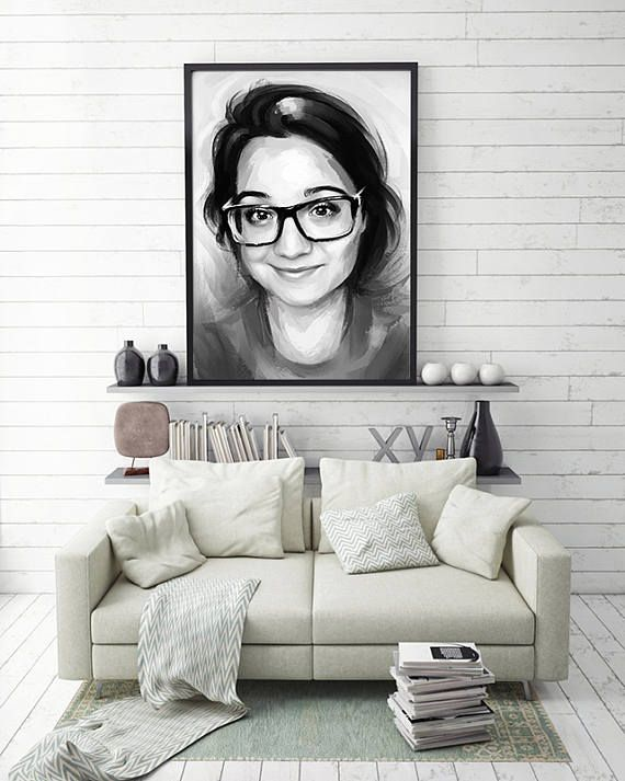 Painting From Your Photos Custom Lady Digital portrait