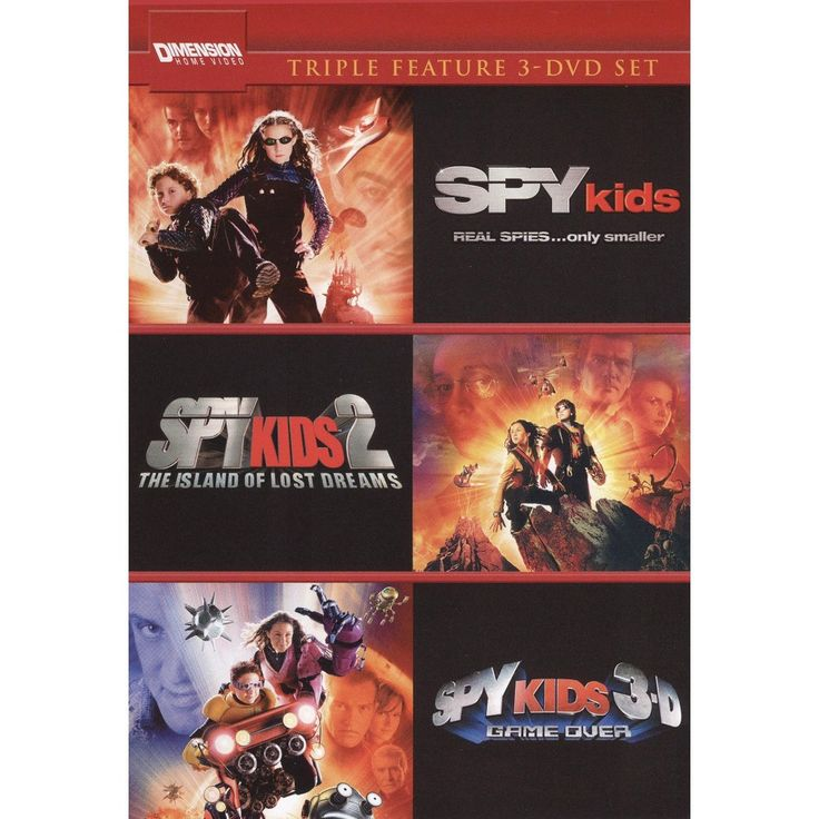 Spy Kids/Spy Kids 2: Island of Lost Dreams/Spy Kids 3: Game Over [4 Discs]