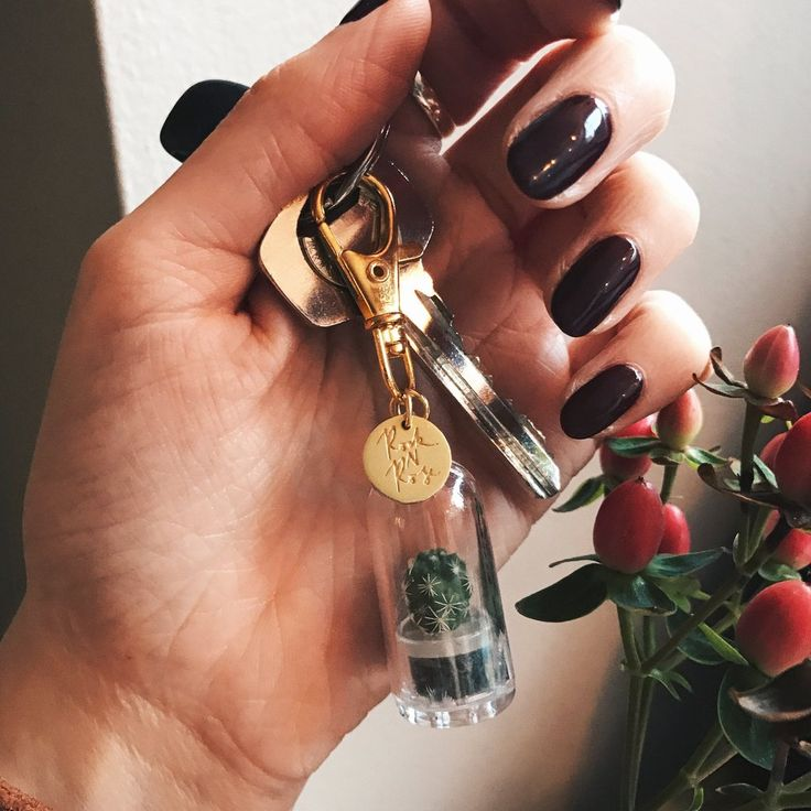 And why wouldn't we want an adorable real life plant to clip to our keys/bag/car mirror? Shop cactus terranium keyring at Rock N Rose!