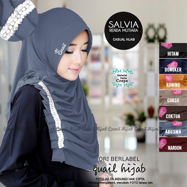 Salvia By Quail Hijab Bahan Jersey Harga 57rb Produk Original Dari Quail Hijab Resseler Order Stok Chat Admin Kami 085735686170 Ootd Hijab Hijab Ootd