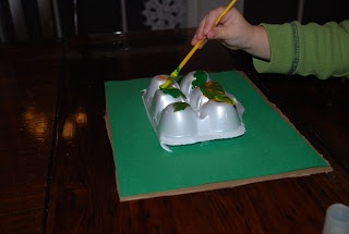 Mountain craft using egg carton- maybe cut into pieces and kids could build the mountains before painting