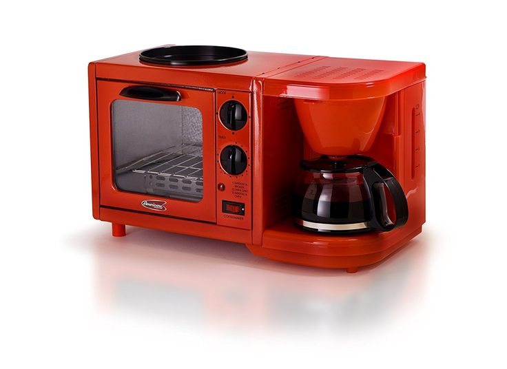 Elite Cuisine EBK-200R Maxi-Matic 3-in-1 Multifunction Breakfast Center
