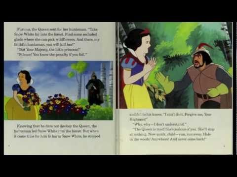 Snow White and the Seven Dwarfs - Disney Read Along (Book and Record) - YouTube