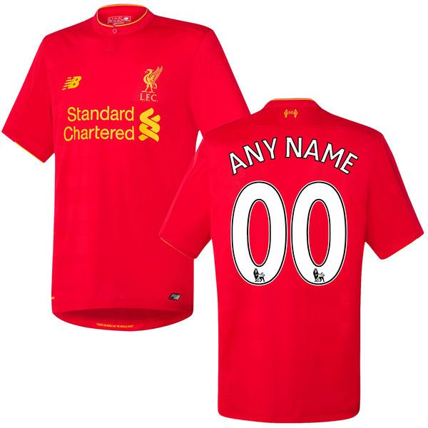 Liverpool FC New Balance 2016 Replica Home Custom Jersey - Red - $59.99