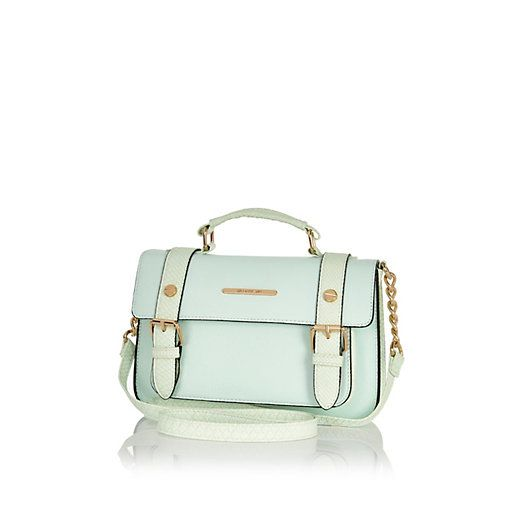 Light green mini satchel #riverisland