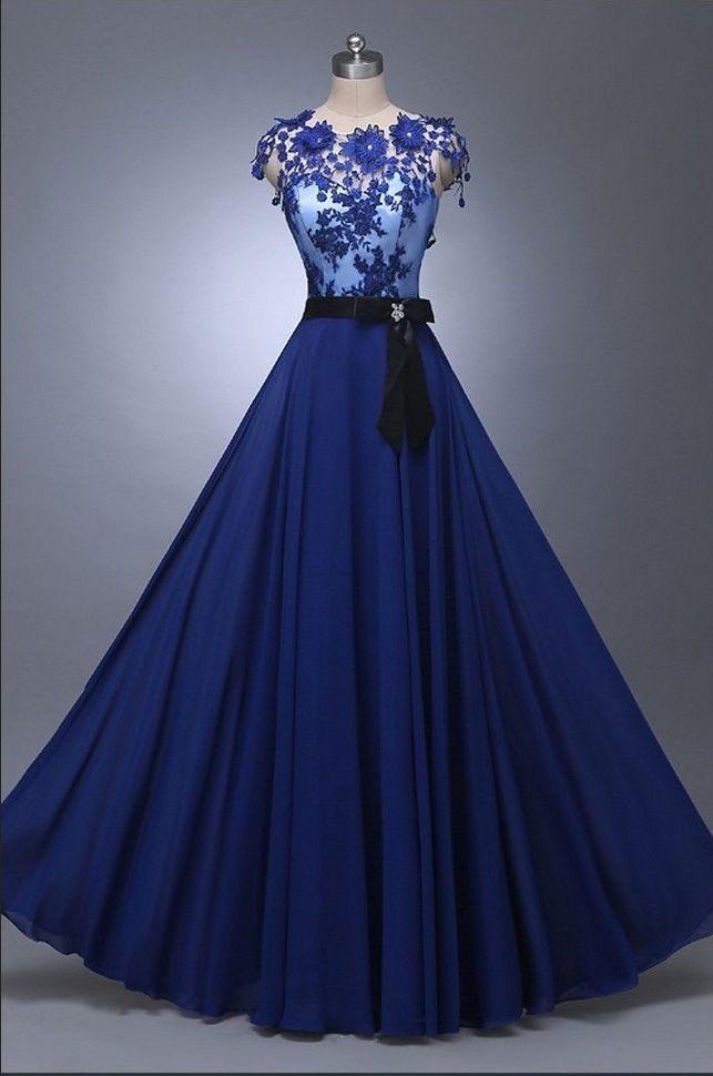 Moda feminina longo laço apliques vestido de casamento vestido de baile festa de …   – Gari Upycycling