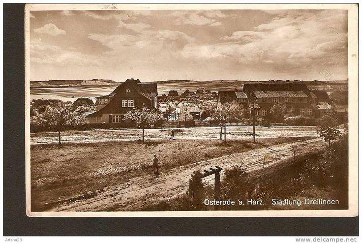 Germany, Osterode a. Harz - Siedlung Dreilinden - real photo postcard