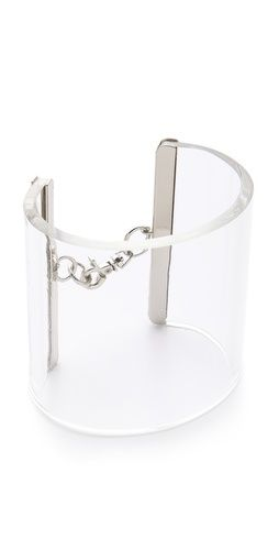"I love all cuff that look like lucite! Cheap Monday ""Luminous Bracelet"" #Lucite #Jewelry"