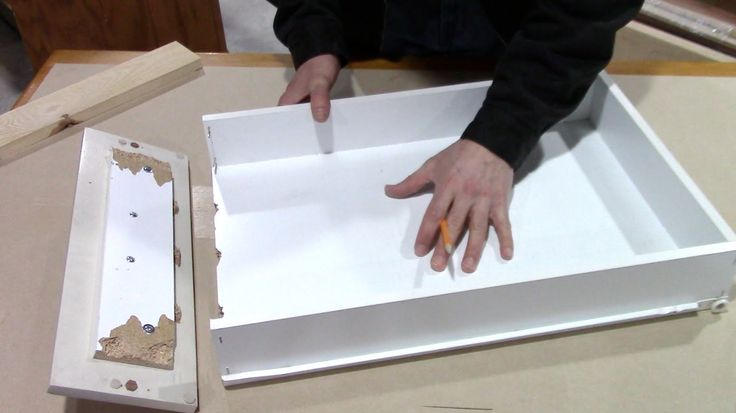 How to fix a broken kitchen drawer - bathroom pull out repair - YouTube