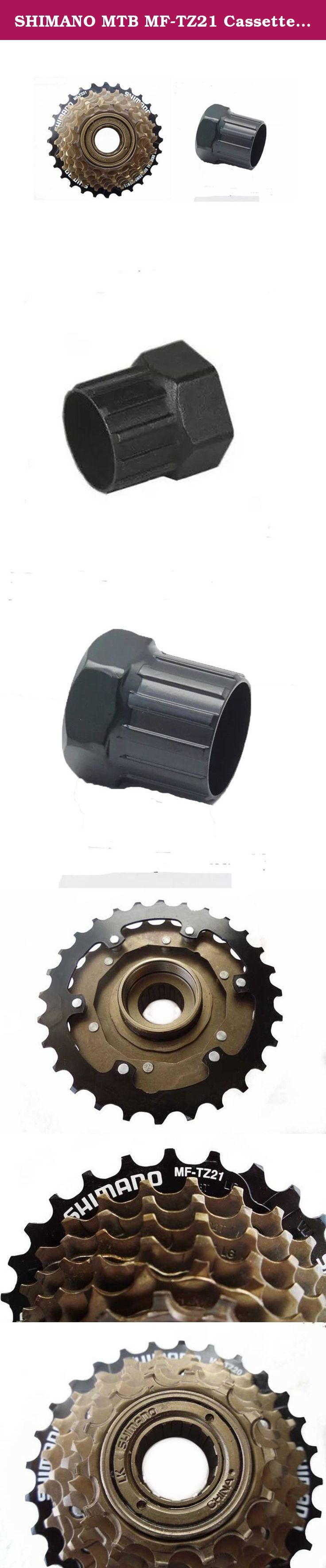 SHIMANO MTB MF-TZ21 Cassette Freewheel 7S 14-28T Bicycle Parts, and Park Tool FR-1 Freewheel Remover for Shimano Freewheels. • Fits Shimano splined remover • Ramps and bevels built into each cog • Includes 7spd .