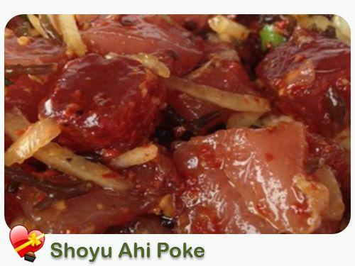 Shoyu Ahi Poke | Ono grinds... must-trys | Pinterest