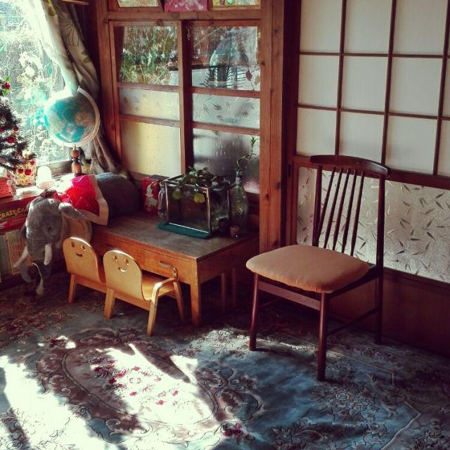 kikuさんの、古い家,椅子,クリスマスツリー,象,水槽,地球儀,大掃除,のお部屋写真