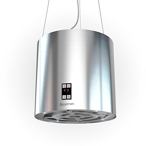 Bergstroem Design Inselhaube Dunstabzugshaube freihängend Edelstahl Deckenhaube