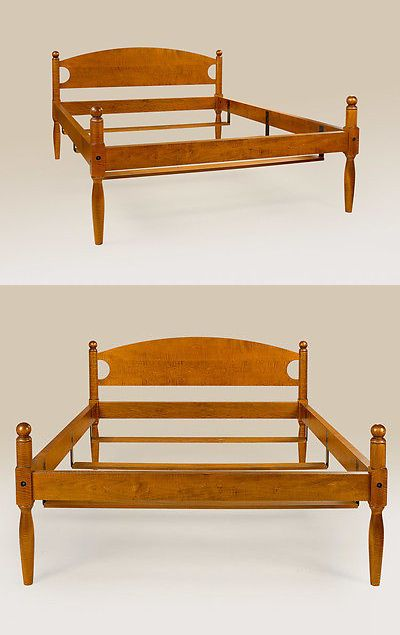 Post-1950 156308: Antique Style King Size Bed Frame Tiger