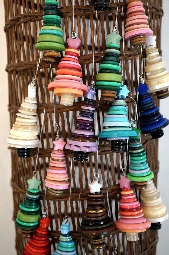 Décorations de Noël ornements darbres de bouton à par aesthetikara
