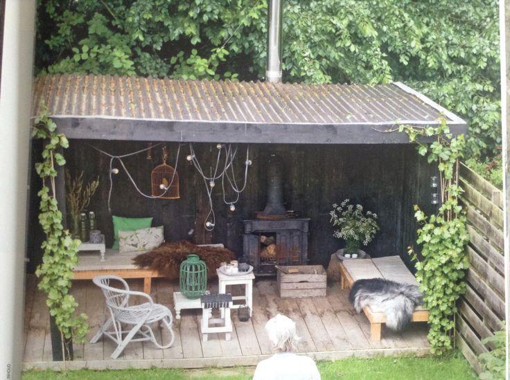 Veranda in de tuin -vt wonen