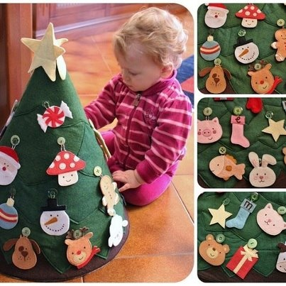 aweee for your baby/child to decorate their own tree--as much as they'd like haha