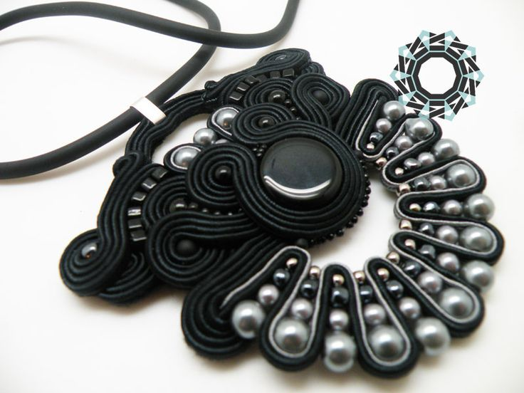 soutache earrings and pendant / kolczyki i wisior soutache Alina Tyro-Niezgoda Tender December