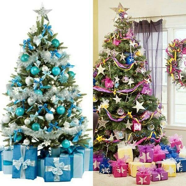 Decoracion del arbol navide o con cintas 2015 ideas - Decoracion de arboles navidenos ...