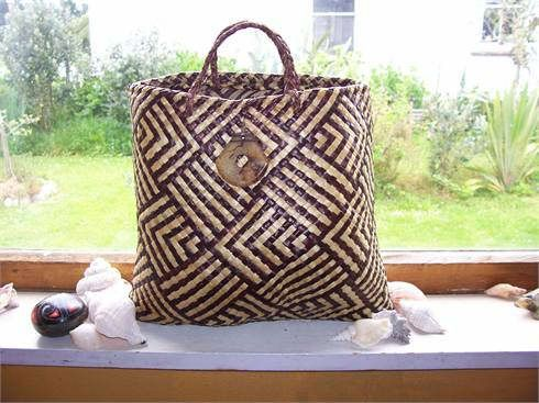 Kete woven with New Zealand flax.