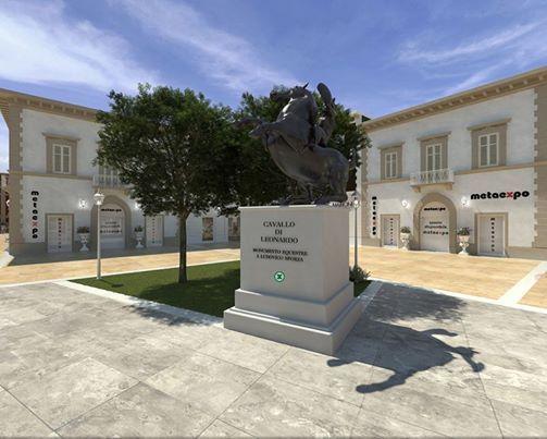 Visita 3d su metaexpo al seguente indirizzo, il Cavallo di Leonardo da Vinci  (1482 al 1493).  http://www.metaexpo.it/ME-000/A_000/tour.html?startscene=scene_a05-23&view.hlookat=-320&view.vlookat=0