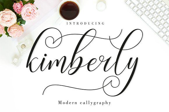 Kimberly Script - Font Duo - 30% OFF by Amarlettering on @creativemarket