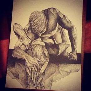 drawings of nude couple making love