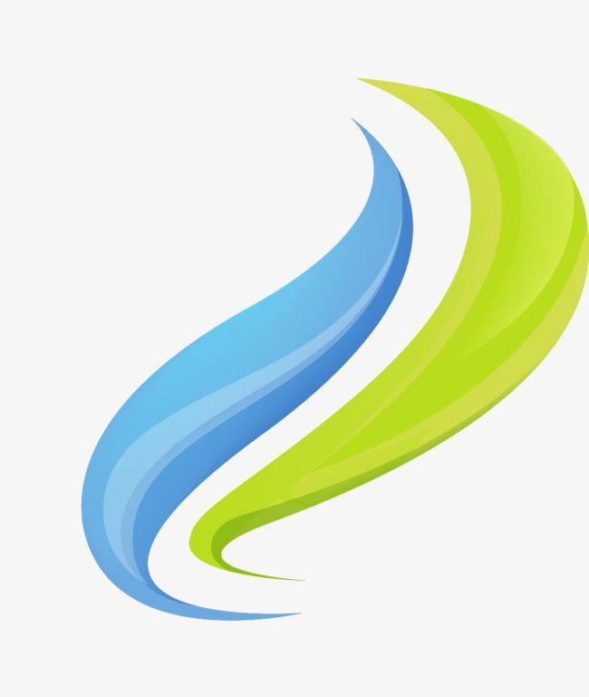 Onda Verde Logotipo Azul Ondulado Design De Logotipo Logotipo