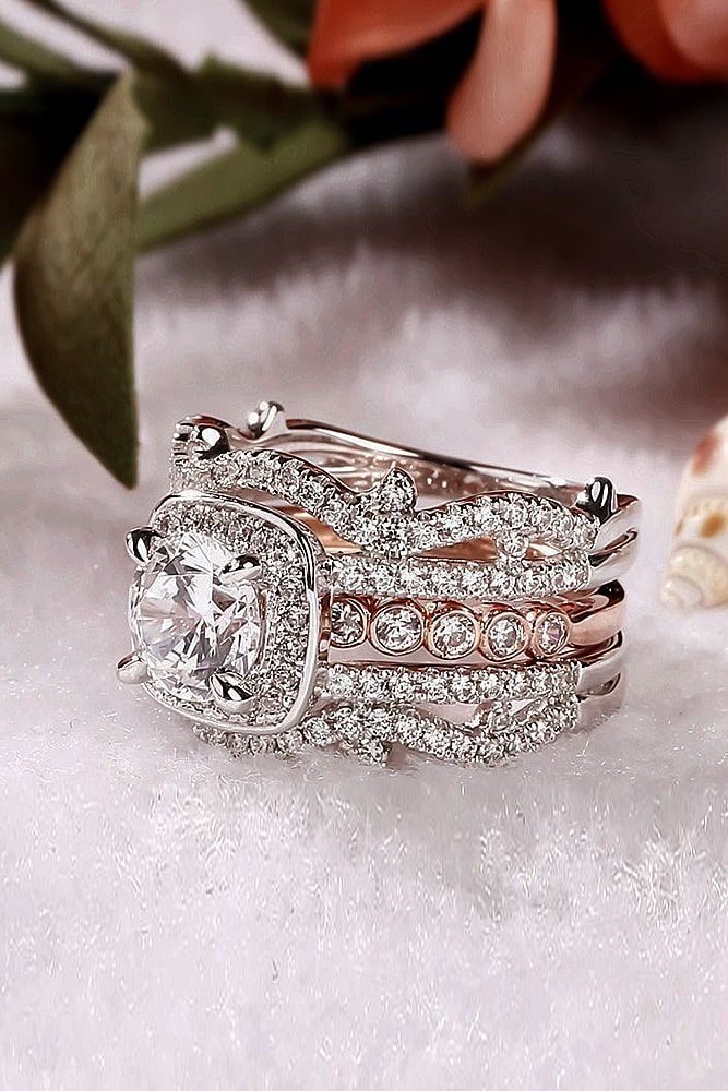 71764742e74dc 42 Wedding Ring Sets That Make The Perfect Pair | Gems, Precious ...