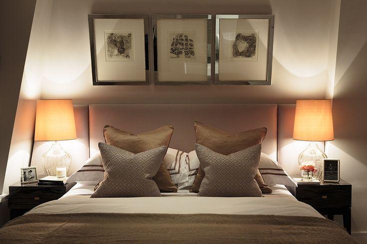 RWID - Warm grey bedroom, headboard design, decorative ...